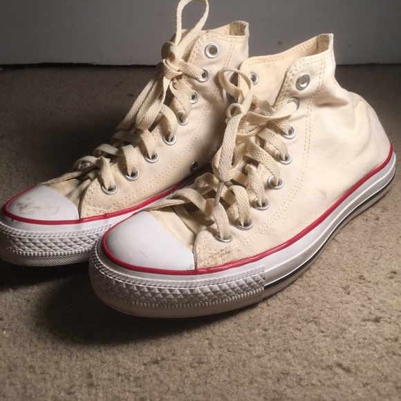 d96a71d602b85c Converse Shoes - Women s 8.5 white cream high top converse